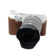 New HORUSBENNU HC-N6 Synthetic Leather Camera Half / Bottom case for SONY NEX-6