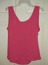 New Juniors sz Large Pink Tank Top Nicki Minaj Criss-Cros Open Back Cotton Knit