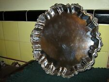"12"" Four Footed Salver Waiter's Tray, FRIEDMAN SILVER Co., 1908-1960 Shells"
