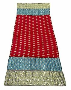 Indian Long Dupatta Vintage Georgette Stole Embroidered Maroon Odhani EMBDP6726