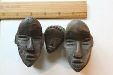 3 African Double Passport Masks Dan Deangle Early 20th Century