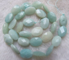"""10x14mm Natural Amazonite Faceted Oval Loose Beads 15.5"""""""