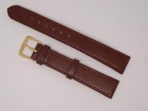 Brown Genuine Buffalo Leather Watch Strap Band 16mm (614S)