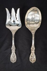 Reed & Barton Francis I 1 Sterling Silver Solid Salad Serving Set Fork and Spoon