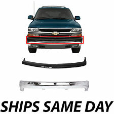 NEW Steel Front Bumper Kit W/ Upper Cover Pad For 2000-2006 Chevy Suburban Tahoe