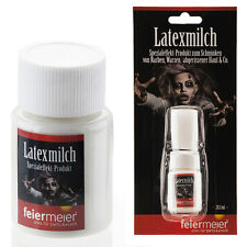 Latexmilch Horrorhaut - Profi Halloween Latex Zombie Horror Schminke Special FX