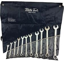 Martin Tools 11 Pc. Combination Wrench Set, Industrial Made in USA