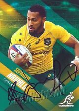✺Signed✺ 2017 WALLABIES Rugby Union Card SEFANAIA NAIVALU