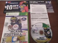 NCAA Football 14 Xbox 360 2014 Rare Complete College Football NCAAF Great Cond.