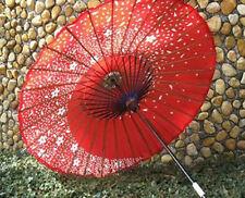 Efficacy Japanese Dance Umbrella Sakura Fubuki Red Color Cosplay Fast Shipping