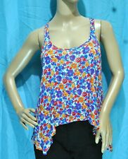 NWOT I LOVE H81 BY FOREVER 21 ASYMMETRIC RACERBACK FLORAL TOP BLOUSE - SIZE S