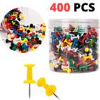 400 PCS BetyBedy Push Pins Multi-Color Map Thumb Tacks Plastic Marking