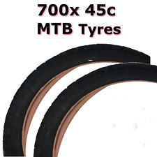 2x 700 x45c 28 x 1.75 (47-622) Black MTB Tyre Bicycle