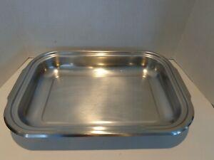Vintage Farberware X Large Stainless Steel Roasting Pan 20  x 13