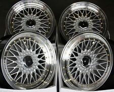 "18"" S GS RS ALLOY WHEELS FITS 5X100 AUDI VW CRYSLER SEAT SKODA TOYOTA VOLKSWAGEN"