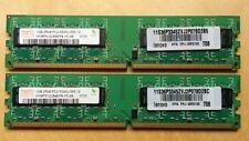 Hynix 2GB(2X1GB) PC2-5300U DDR2 667MHz Desktop Memory Ram HYMP512U64EP8-Y5
