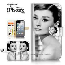 ( For iPhone 8 Plus ) Wallet Case Cover P21323 Audrey Hepburn