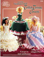 """""""FASHION DOLL TOILET TISSUE COVERS""""~Crochet PATTERNS fit BARBIE FD~6 Designs"""