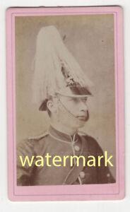Soldier in uniform, plumed helmet, Northampton, CDV
