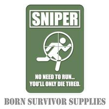 SNIPER TARGET DIE TIRED PVC RUBBER PATCH - Morale Airsoft Shooting Badge
