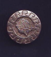 bouton metal - illustré tete type grece ou rome antique