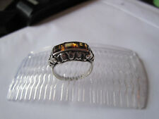 Art Deco Ring Silber 835 Citrine