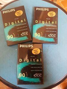 3 Stk DCC Leercassetten Philips 90 Minuten  OVP