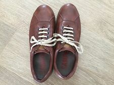 CAMPER - BROWN LEATHER PELOTAS TRAINERS / SHOES - size 40 - 100% original