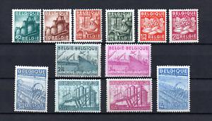 Belgium 1948 old set def. stamps (Michel 804/15) Trade/industry nice MNH