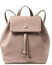 afc180422e88 NWT MICHAEL KORS Junie Medium Pebbled Leather Backpack Fawn 30T8TX5B2L