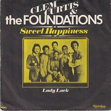 7inch CLEM CURTIS & THE FOUNDATIONS	sweet happiness	HOLLAND 1976 EX / EX-(S3197)