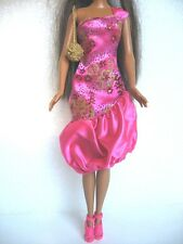 TENUE COMPLETE ROBE  SAC CHAUSSURES POUPEE BARBIE F42
