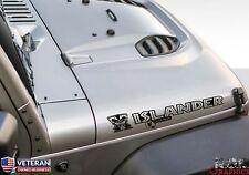 2x Islander Beach Club Tiki Man hood Vinyl Decals fits Jeep Wrangler: Tiki Bob