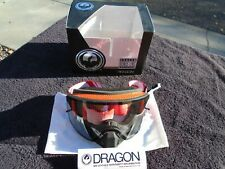 NEW DRAGON ALLIANCE NFX Snow/Motorcycle Googles Red with Clear Lens.