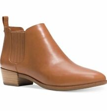 NEW  MICHAEL KORS SZ 7 SHAW LEATHER ANKLE  BOOTIE BOOTS BROWN
