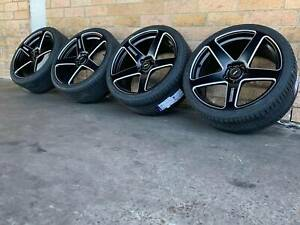 FRC SIMMONS 20 INCH GENUINE STAGGERED WHEELS AND TYRES NEW SET FORD FPV