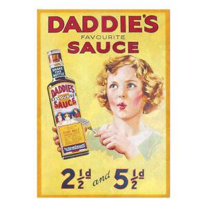 Daddies Sauce Advertising Sign Kitchen Workshop Vintage Garage Shed Metal Heinz