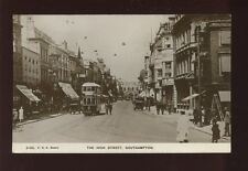 Hampshire Hants SOUTHAMPTON High St Tram13 1928 RP PPC by F G O Stuart