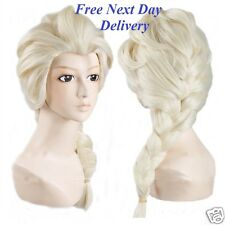 Frozen Elsa Snow Queen Blonde Wig Children's Size Fancy Dress Costume  Quality