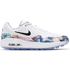Nike Retro Air Max 1 G NRG Golf Shoes Womens BV0658-100 White/Floral $150 NEW!