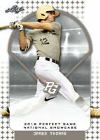 """JARED THOMAS """"1ST EVER PRINTED"""" 2018 LEAF PERFECT GAME ROOKIE CARD!"""