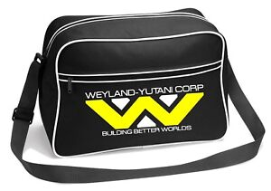Weyland Yutani Corp Alien Inspired Retro Messenger Shoulder Bag
