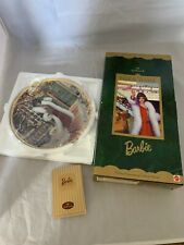 Holiday Voyage Barbie Hallmark 1997 Special Edition 1920s Flapper Doll & Plate