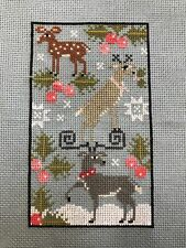 Completed Cross Stitch Plum Street Samplers Christmas Rack Stack
