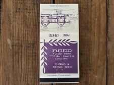 """Matchbook Cover """"REED FUNERAL HOME"""" Cledus & Dennis Reed, Canton, Ohio  **LOOK**"""