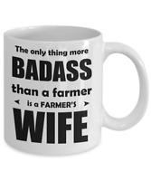 Funny Farmer's Wife Coffee Mug Vanity Novelty Gift For Farmers Wife 11 Oz 15 Oz