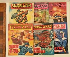LOT OF 6 1970S VINTAGE STARBLAZER SCIENCE-FICTION COMICS DC THOMSON UK ALL EXC!