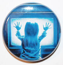 "1"" (25mm) Poltergeist Horror Movie Button Badge Pin - High Quality"