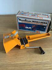 More details for vintage moulinex herb grinder mouli parsmint boxed france retro orange