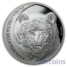 Andorra 2010 Brown Bear COTY Award Wildlife of the Pyrenees 5D Pure Silver Coin